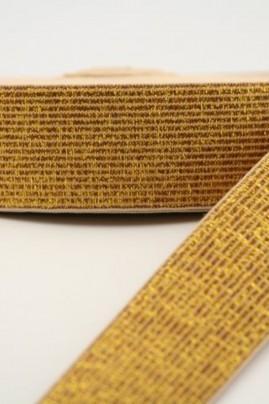 Taille elastiek 25mm goud