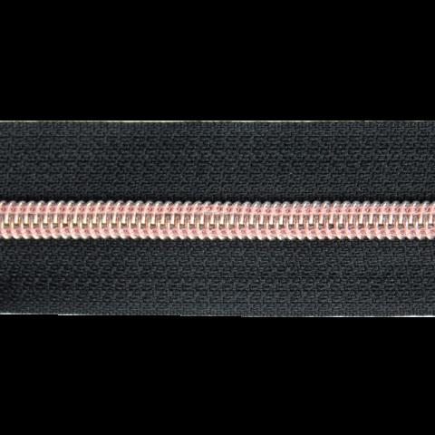 Rits per meter Zwart/Rosé