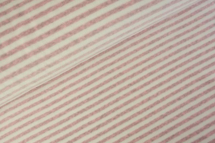 Stripes Nicky velours Lichtroze Melange