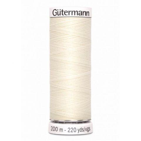 Naaigaren 200m Creme 001 - Gütermann