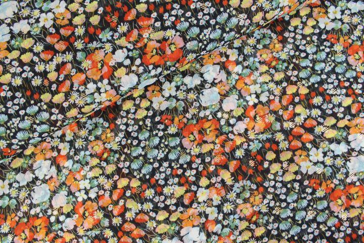 Yoryo Flower Field Chiffon Foil Roest