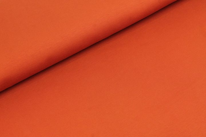 Katoen Tricot Koper Oranje