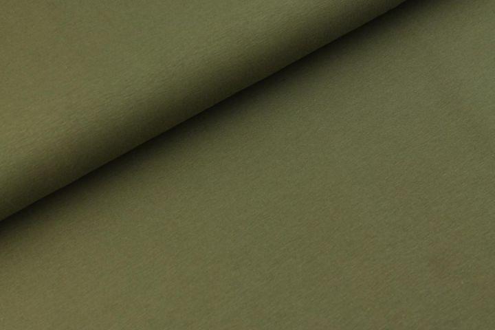 Katoen Tricot Army groen