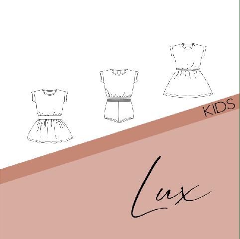 Patroon Lux jurk/jumpsuit meisjes - Bel'etoile