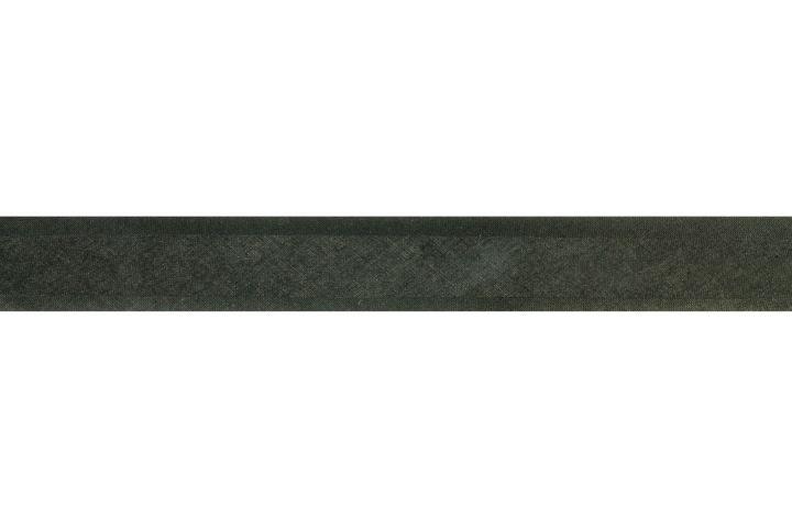 Biais Katoen Zwart 25mm