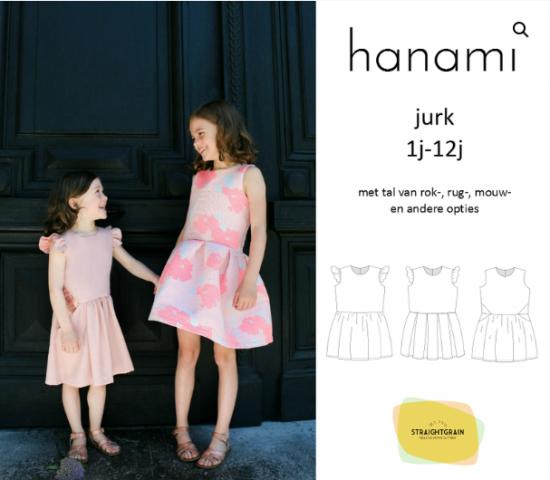 Patroon Hanami jurk- Straightgrain