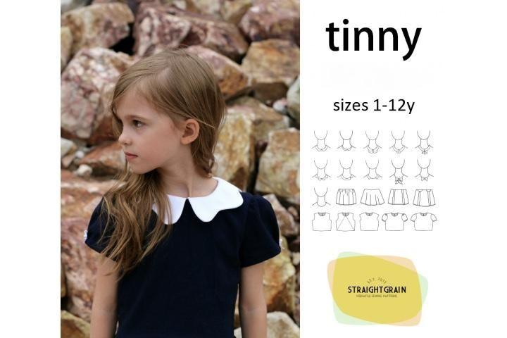 Patroon Tinny jurk- Straightgrain