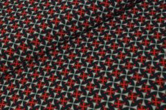 Betsy Royal Peach Stretch Rood  - Jacky Fabrics