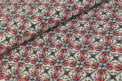 Carolien Royal Peach Stretch Rood  - Jacky Fabrics