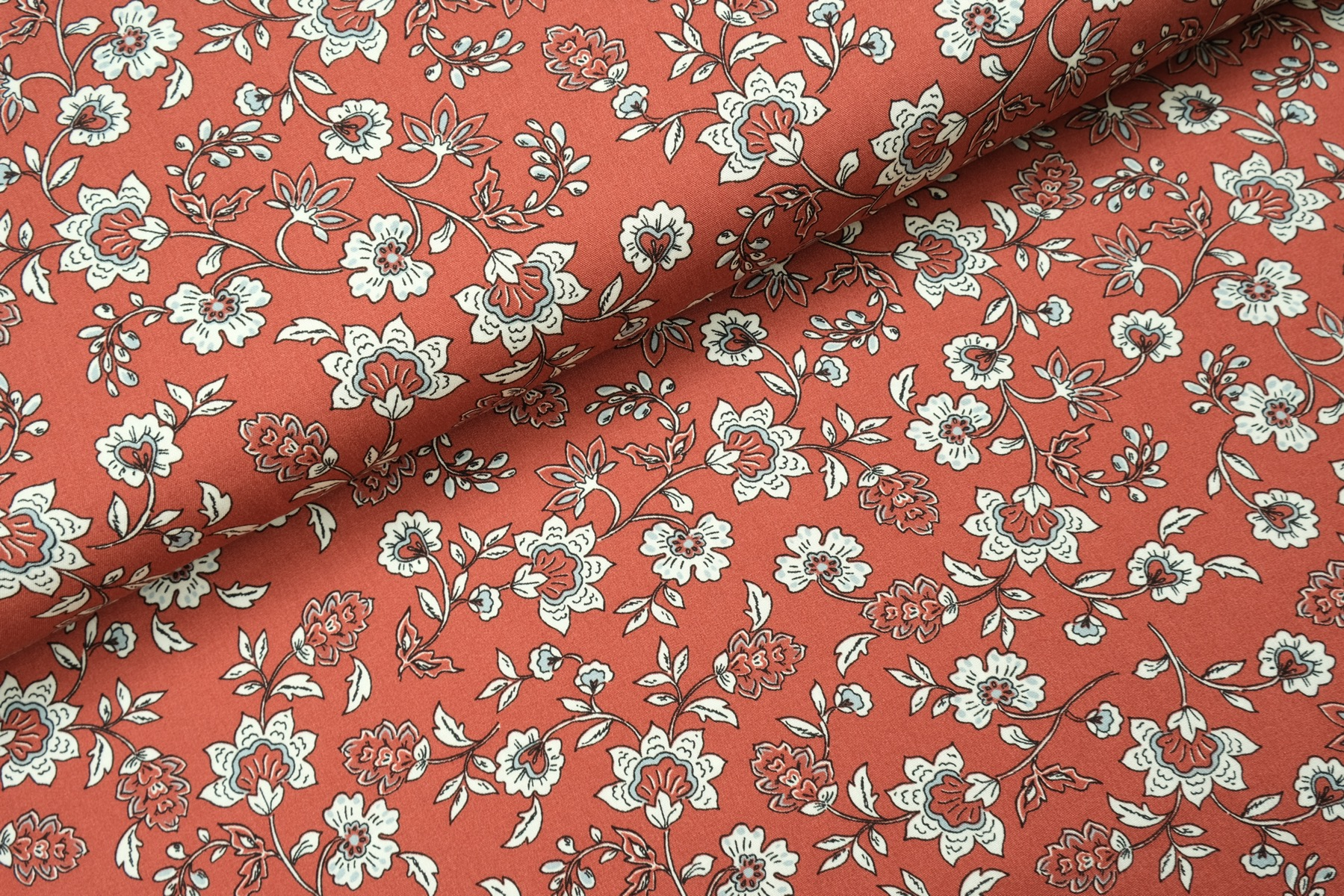 Flory Flower Viscose Roest
