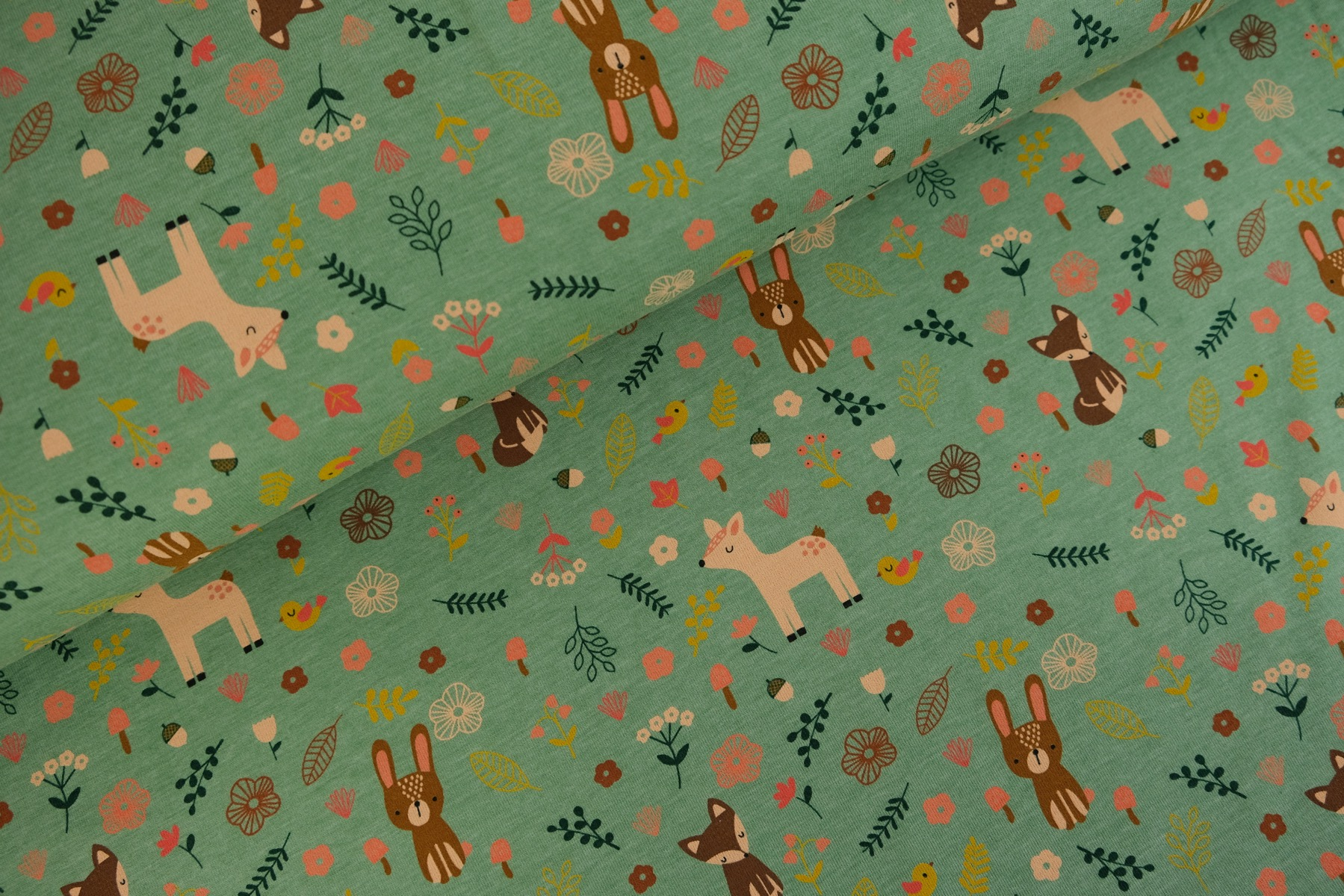 Forest Friends Tricot Oudgroen - By Poppy