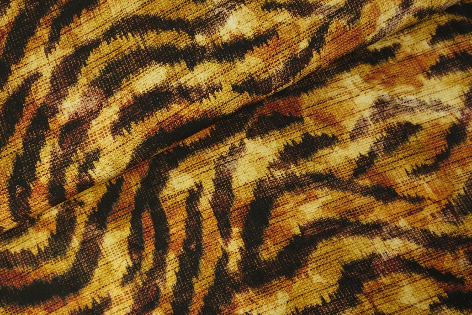 Tiger Cat Viscose Camel