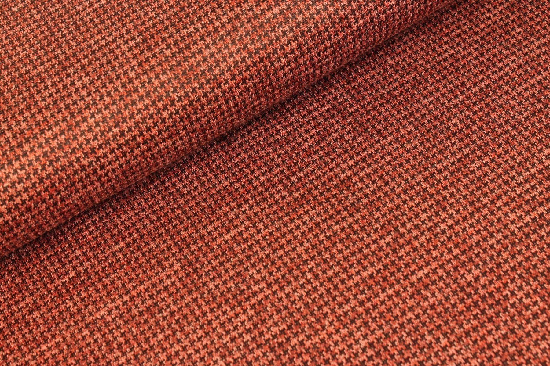 Mini Pied Tweed Wijnrood