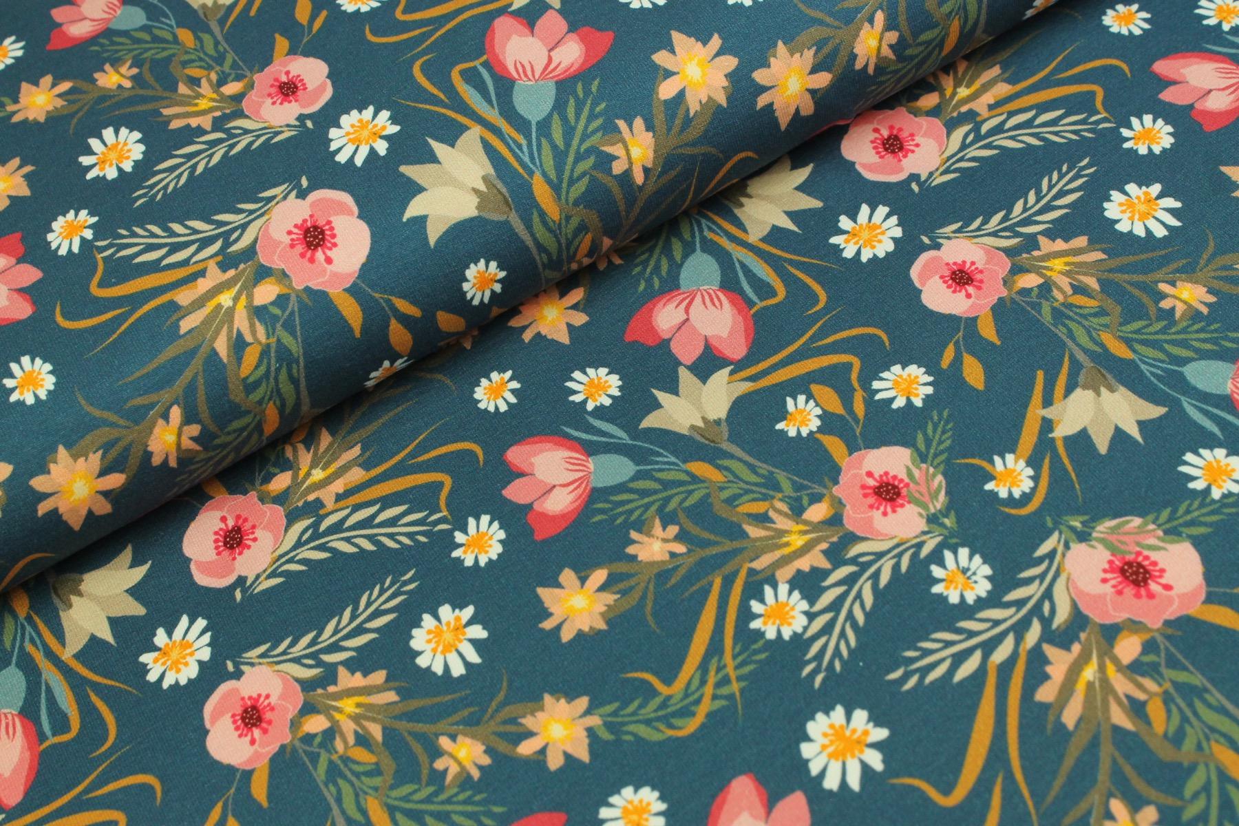 Flower In The Field Tricot Jeans - Megan Blue