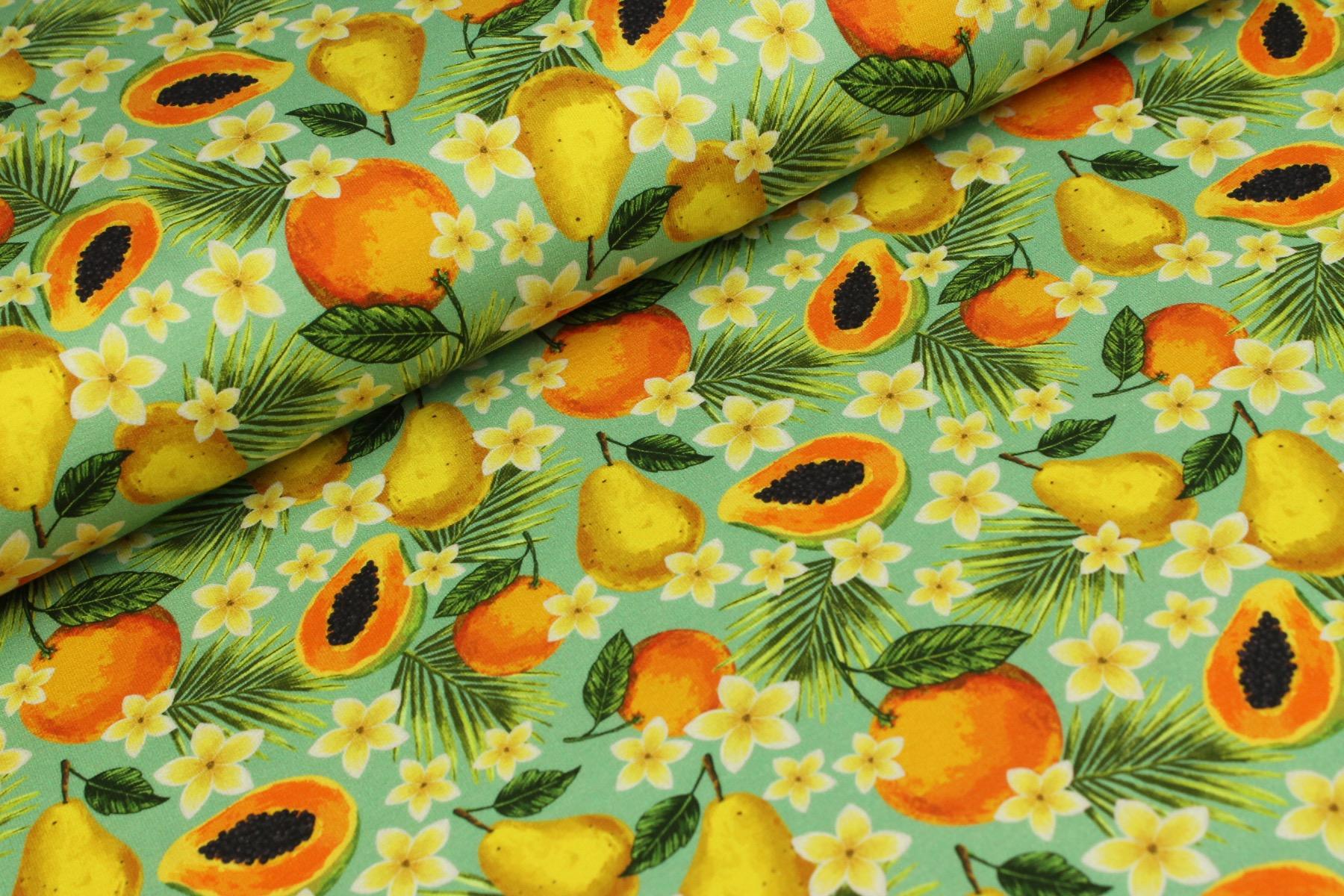 Fruit And Blossom Tricot Zeegroen - Megan Blue