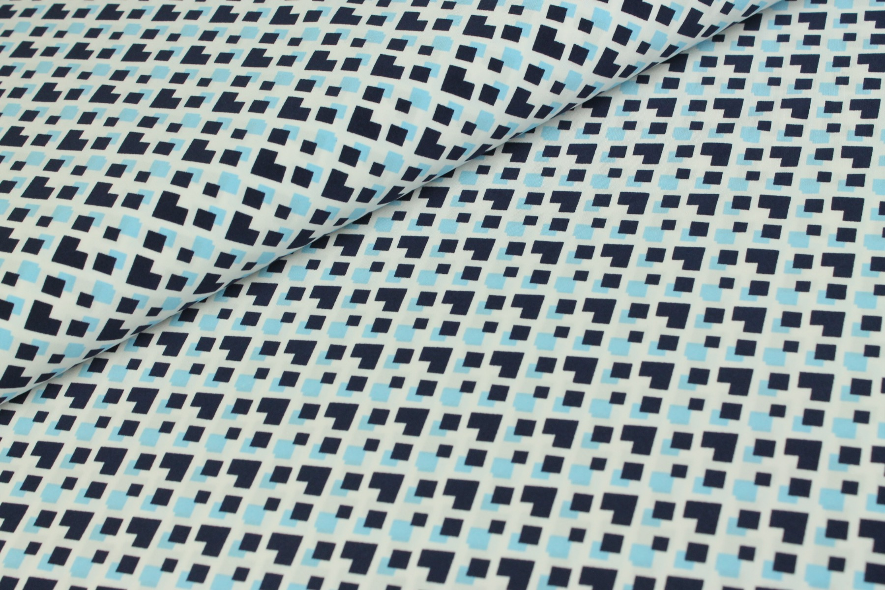 Anouk Royal Peach Stretch Blauw - Jacky Fabrics
