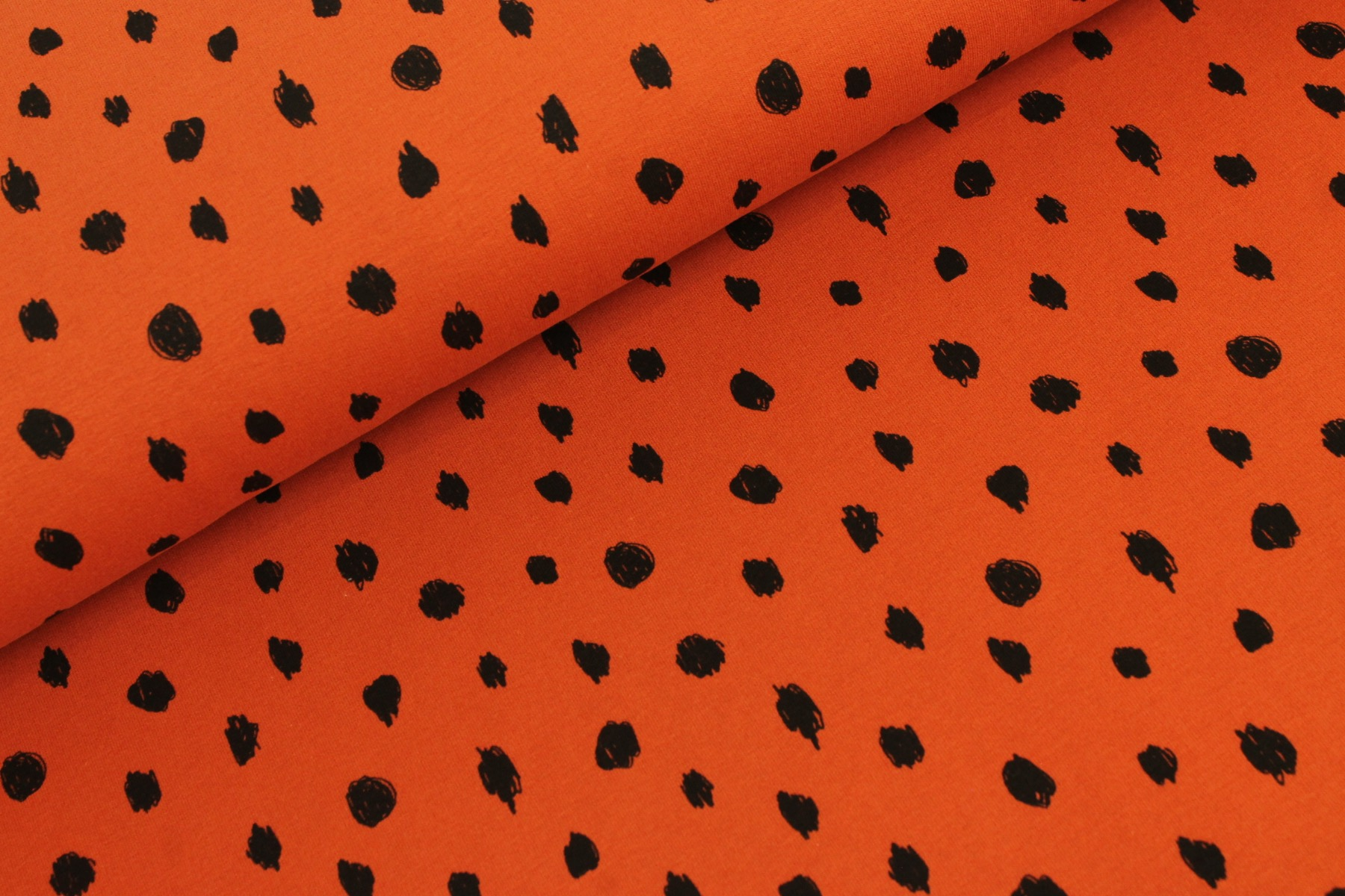 Dots Soft French Terry Roest - By Poppy