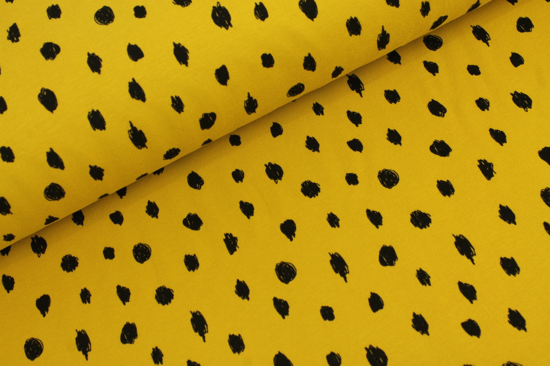 Dots Soft French Terry Oker - By Poppy