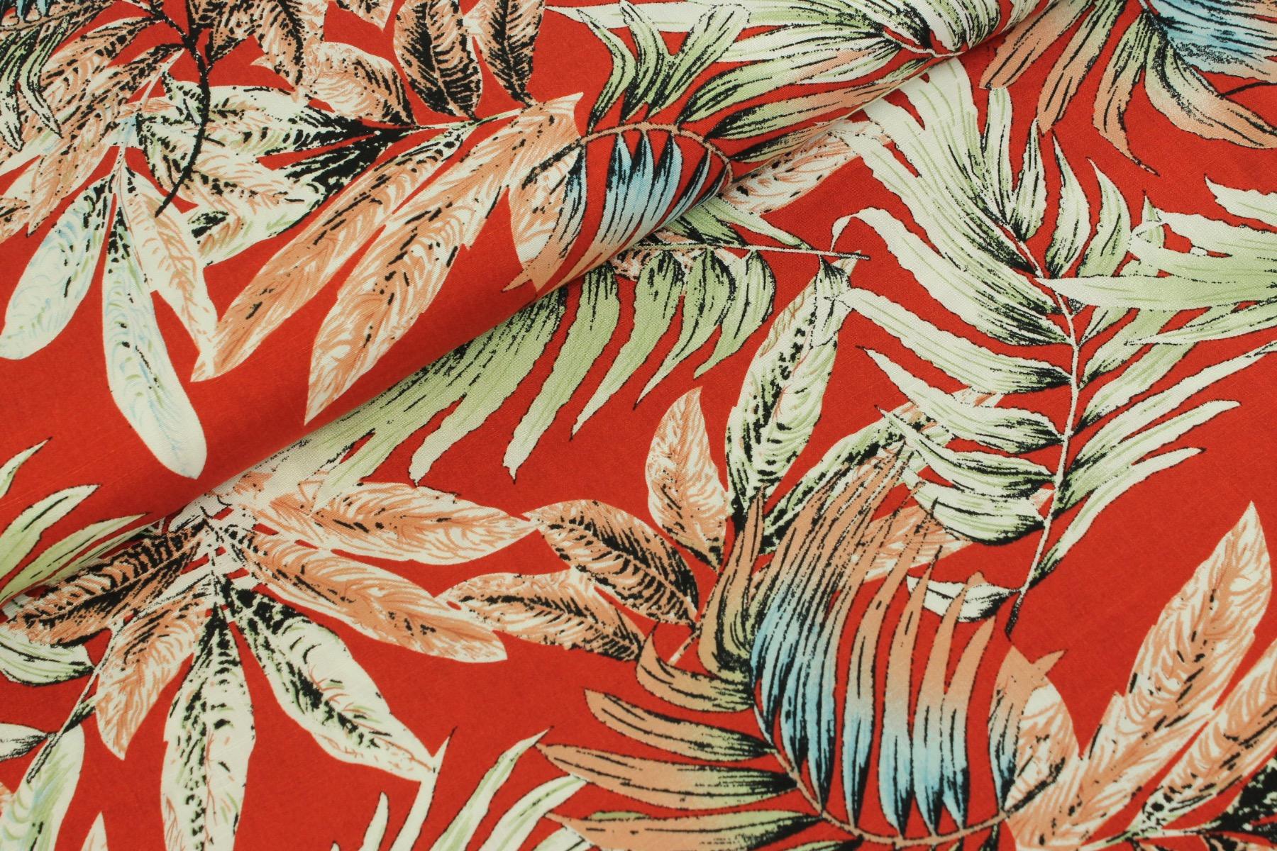 Tropical Rayon Slub Viscose Rood