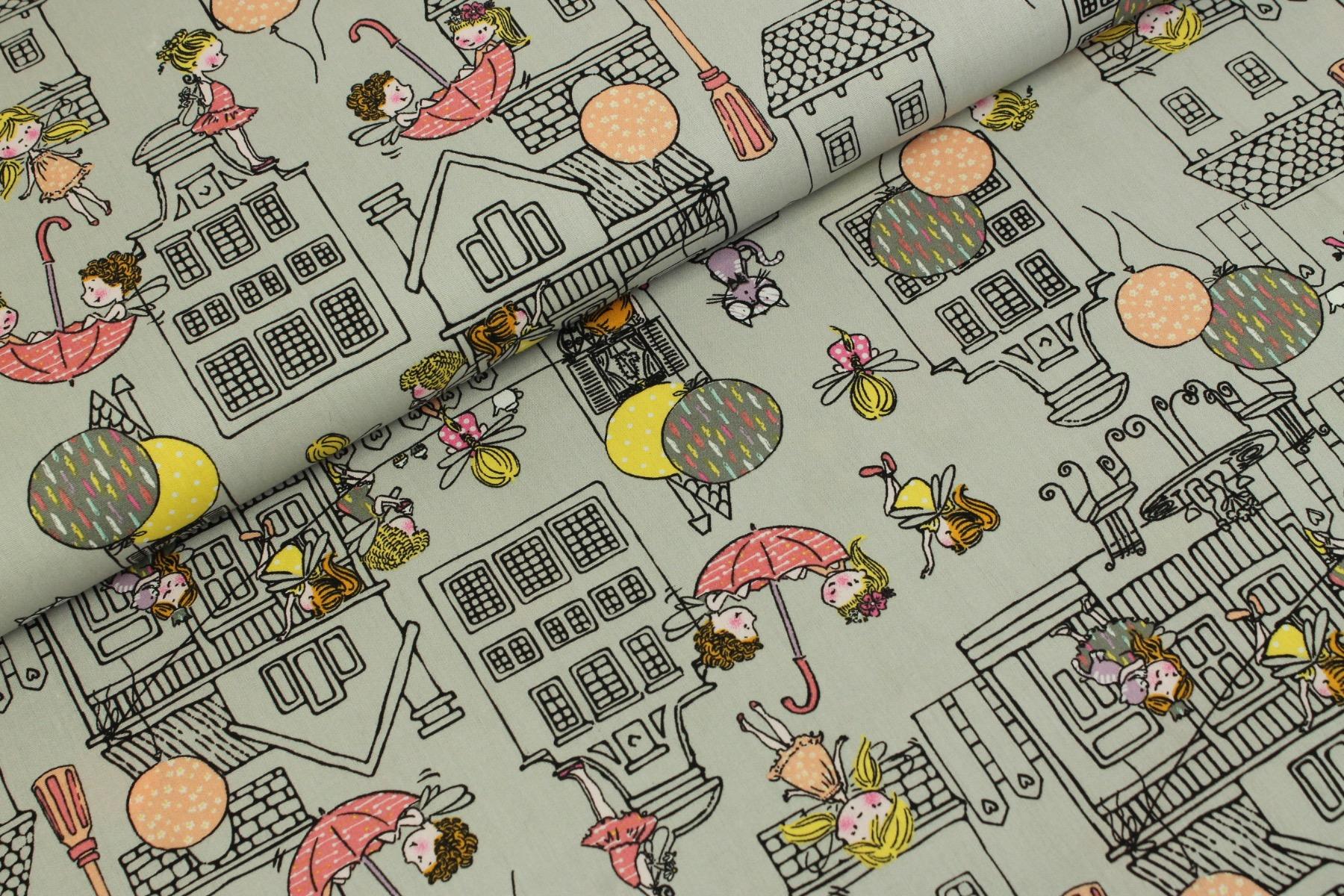 City Girls Katoen Grijs - by Poppy