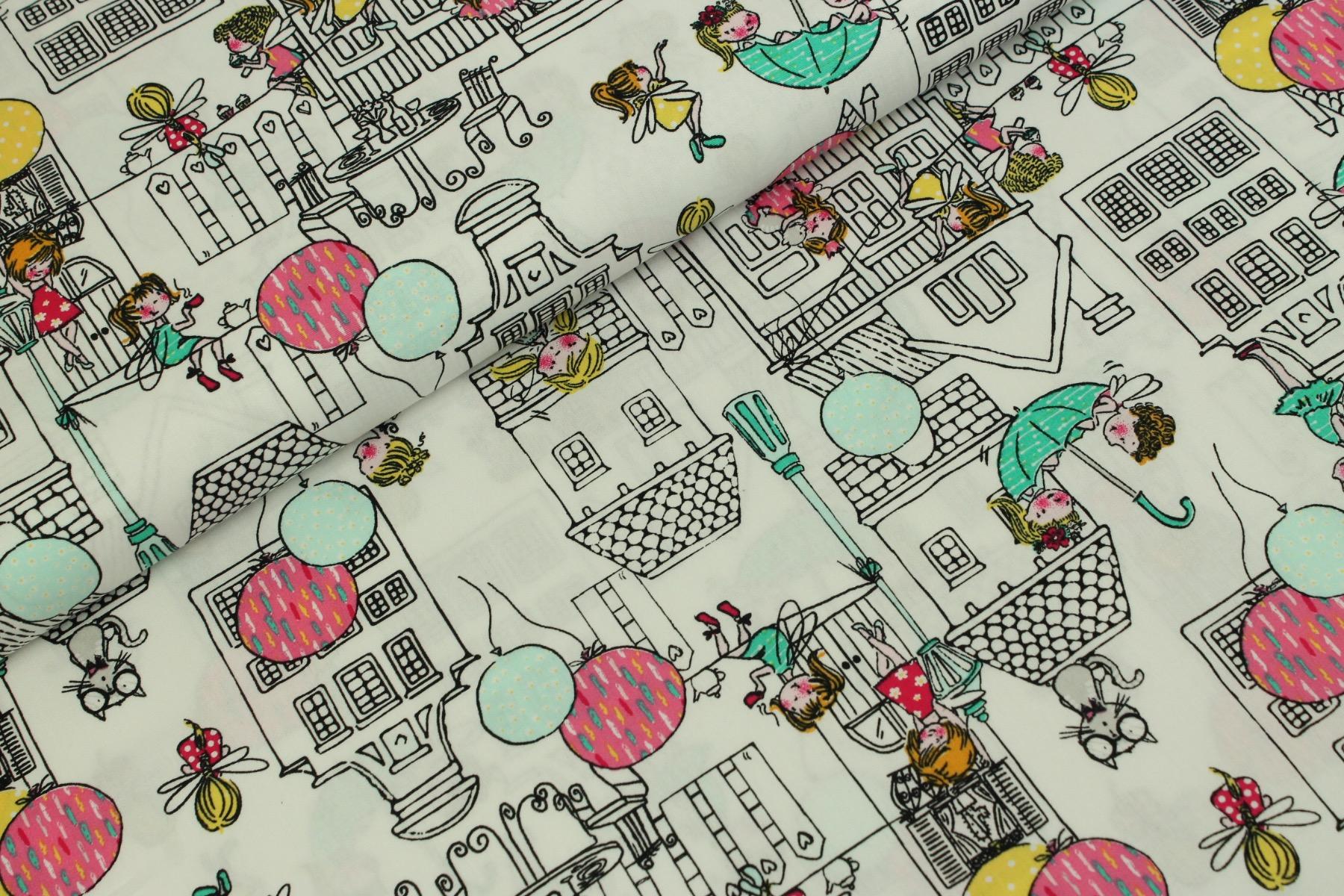 City Girls Katoen Wit - by Poppy
