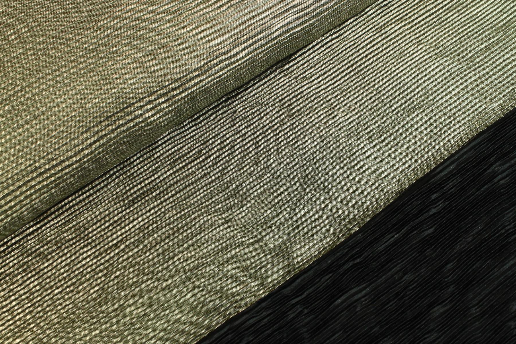 Plissé Foil Zwart / Goud