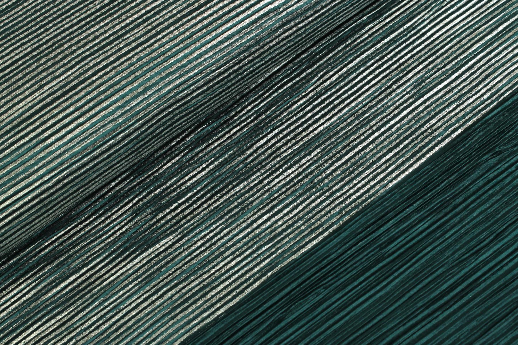 Plissé Foil Emerald / Zilver