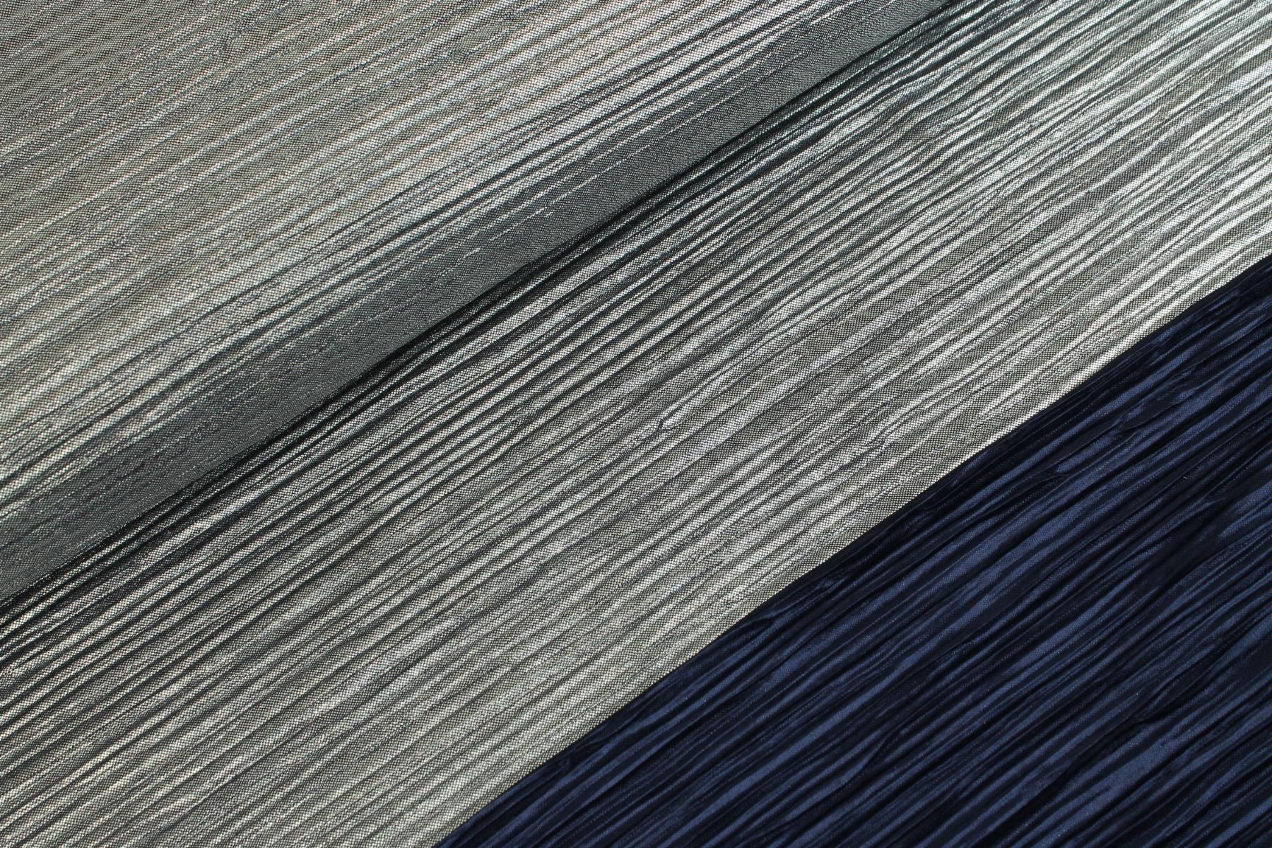 Plissé Foil Marine / Zilver