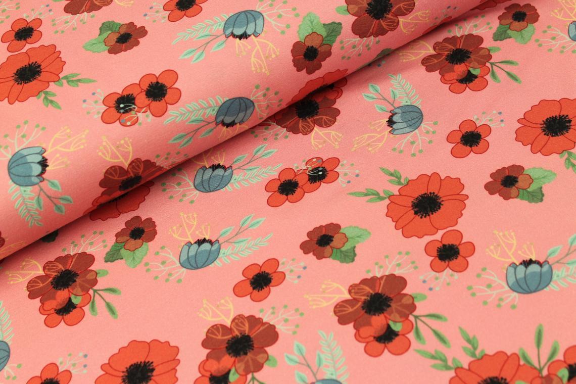 Field Flowers Tricot Roze - Megan Blue