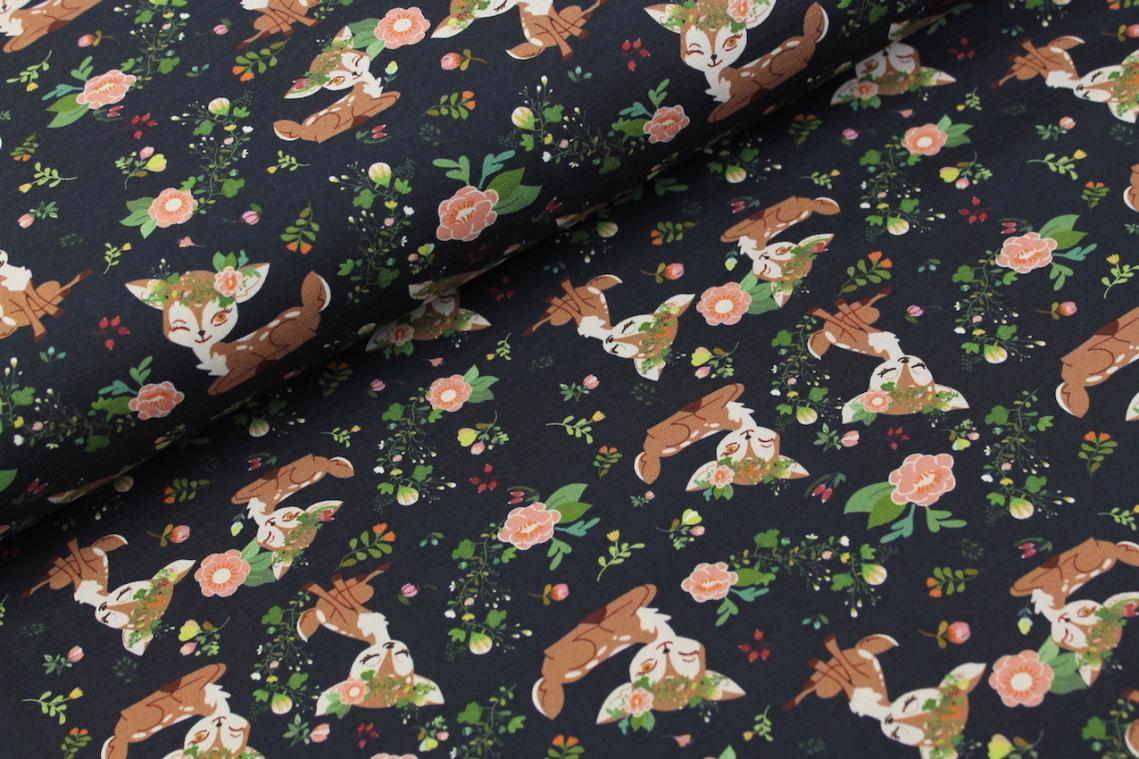 Bambi In The Flowers Navy - MBF