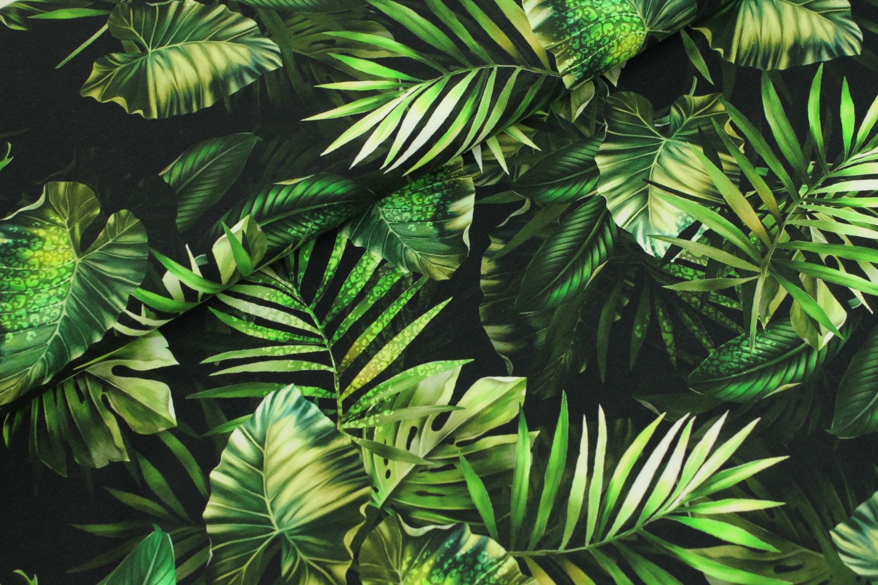 Natural Leaves Tricot Groen - Megan Blue