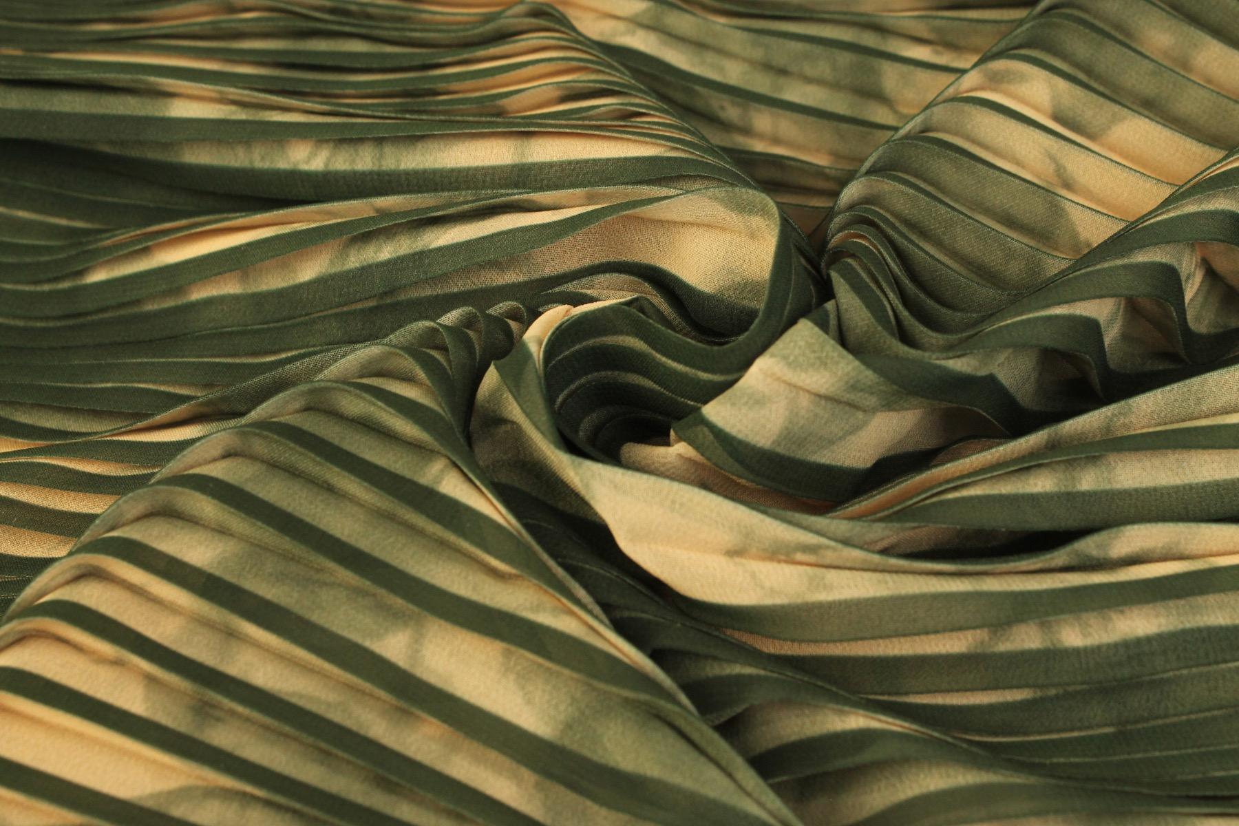 Plissé Batik Donkergroen