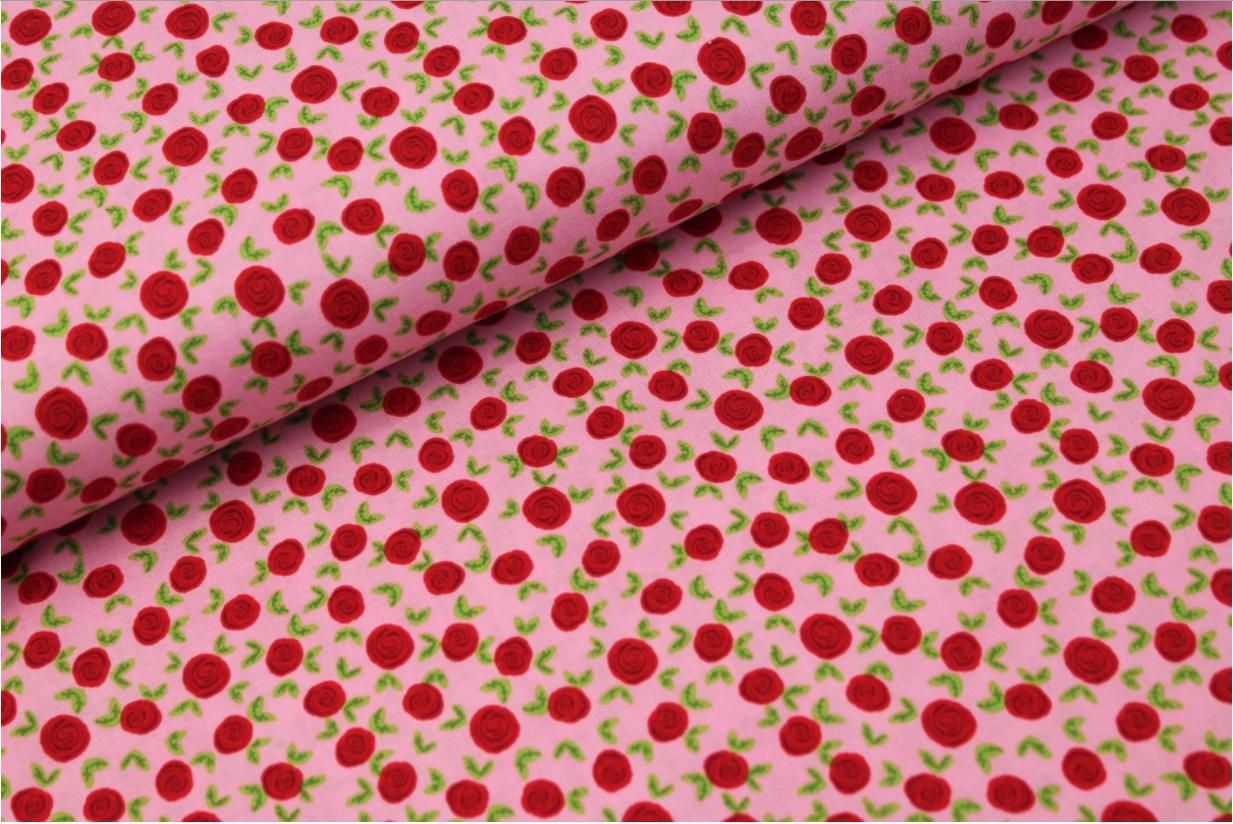 Roses Katoen Roze