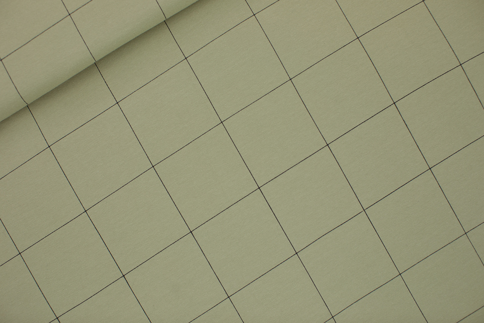Thin Grid French Terry Tea Green - See You At Six