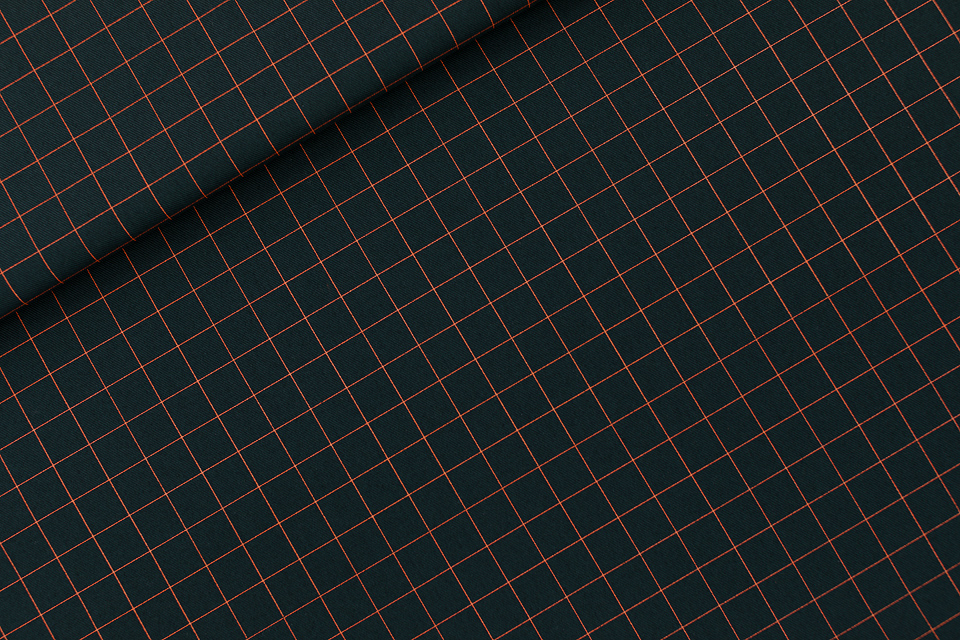 Thin Grid Cotton Canvas Gabardine Twill Forest River - See You At Six